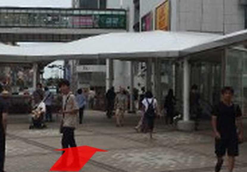 JR町田駅 中央改札口から町田店への道順1