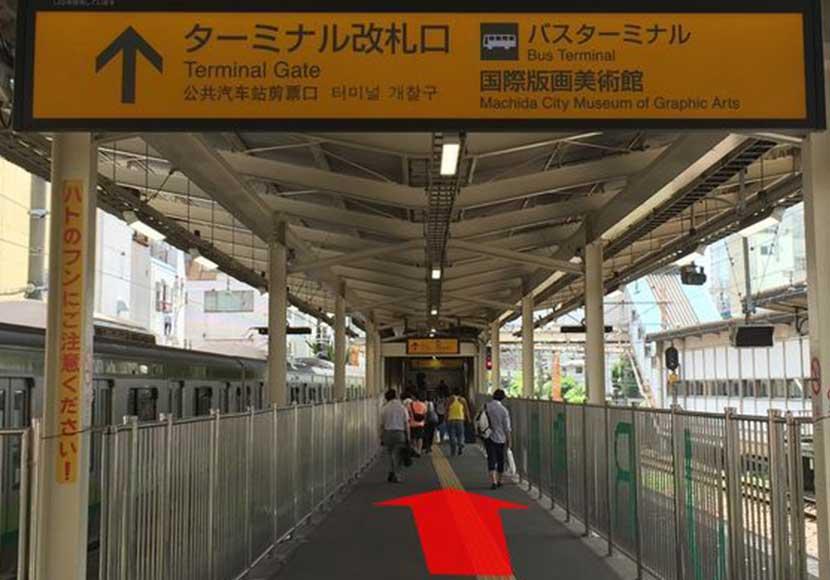 JR町田駅 ターミナル改札口から町田店への道順1