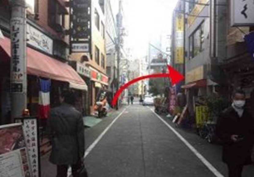 JR新橋駅から新橋店への道順4