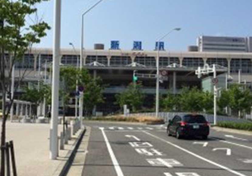 JR新潟駅 南口から新潟店への道順1