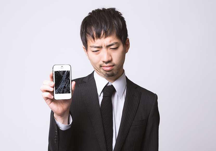 iPhoneの故障で多いのはガラスや液晶の破損?